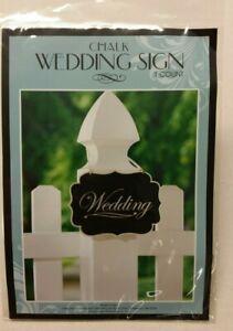 Wood Chalk Wedding Sign Marker Twine Hanger Set of 2