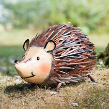 Large 35cm Hedgehog Metal Garden Ornament Outdoor Animal Sculpture Statue Gift