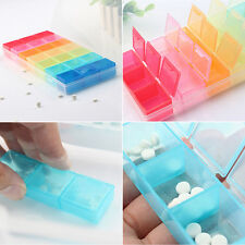 7 Days Weekly Tablet Pill Box Holder Medicine Storage Organizer Case ContainerMD