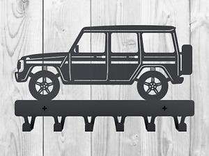Metal Key Holder Wall rack Mercedes W463 G-Wagen Geländewagen Offroad