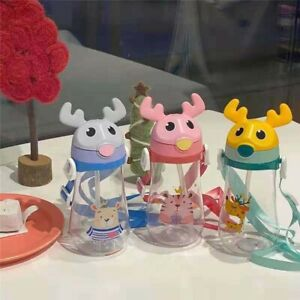 Mugs Toddlers Kids Water bottle Children's water cup Cartoon Kettle Straw Cups