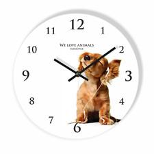 Modern Dog Large Wall Clock Home Decoration Kids Bedroom Living Room Silent