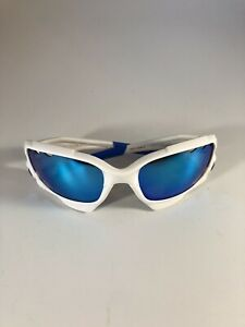Oakley Racing Jawbone Sunglasses 24-273 White Frame 62 18 Polarized Blue BL1