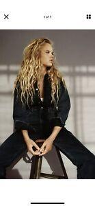 Zara Faded Black Denim Jumpsuit Large BNWT