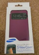 SAMSUNG GALAXY S4 S VIEW MOBILE PHONE COVER CASE PURPLE SEALED GENUINE