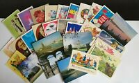 Lot of 28 vintage Soviet postcards of the USSR period
