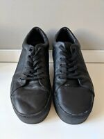 SATURDAYS NYC Black Leather Sneakers - Mens Size 12 US / 11 UK / 45 EU