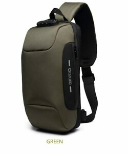OZUKO Multifunction Crossbody Bag for Men Anti-theft Waterproof  Shoulder Bag