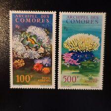 FRANCE COLONIE COMORES POSTE AÉRIENNE PA N°5/6 NEUF ** LUXE GOMME D'ORIGINE MNH