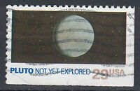 USA Briefmarke gestempelt 29c Pluto not yet explored aus Markenheft  / 208