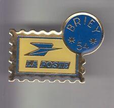 RARE PINS PIN'S .. PTT LA POSTE FRANCE TELECOM TIMBRE STAMP ARGENT BRIEY 54 ~CZ