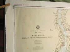 NAUTICAL MAP OF NEW YORK CITY EAST RIVER, Tallman Island to Queensboro Bridge