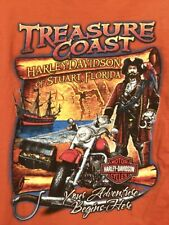 Harley Davidson Stuart Fl Treasure Coast Pirate & Swords T-Shirt-L, EUC