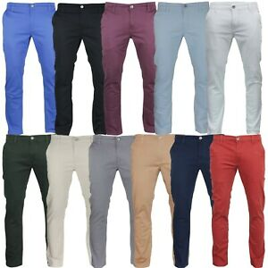 """Men's Jack South Regular Fit Stretch Cotton Flat Front Chino Trouser From 30-40"""""""