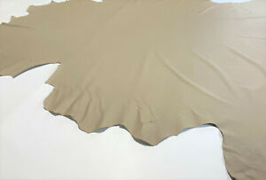 Leather Cowhide Mocha Beige Smooth Automotive Home 53 SqFt Upholstery Craft Hide