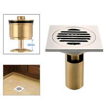 Copper Floor Drain Bathroom Kitchen Wet Room Shower Waste Trap Plumbing Trim Kit