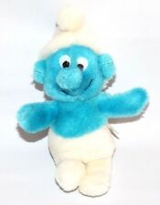 """Vintage Smurf plush stuffed small standing Wallace Berrie 8"""""""