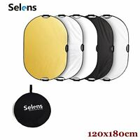 Selens 5in1 Studio Photography Photo Collapsible Light Reflector 120x180CM
