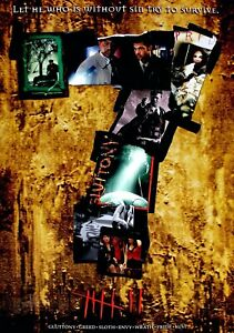 SEVEN Classic 90's Vintage Movie Poster - Wall Film Art Print - Se7en Brad Pitt