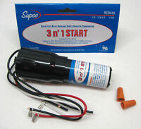 Supco RCO410 Refrigerator Relay Start & Overload Capacitor 1/4 1/3 HP, 3-in-1