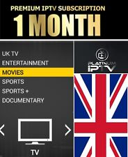 1 Month IPTV Subscription Warranty (UK Ch + VOD) MAG, Android, SmartTV, M3U GIFT