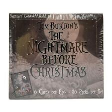 *VERY RARE*NIGHTMARE BEFORE CHRISTMAS COLLECTOR'S SERIES 1 A-F Trading Cards Box