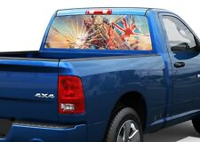 Iron Maiden Eddie broken glass Rear Window Decal Sticker Pick-up Truck SUV Car