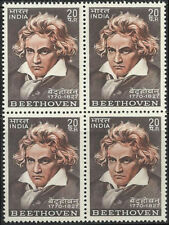 Beethoven Composer Block of 4 India  1970  Western Classical Music Germany musik