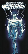 ADVENTURES of SUPERMAN BLUE (1997 DC) Comic book store PROMO OVERSIZED CARD.