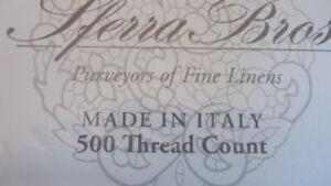 SFERRA Sheet Set Queen 500TC 100%  Long Staple Cotton Sateen $980 White