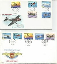 Jersey 1979 International Air Rally 25th Anniversary FDC FDI First Day Cover x 2