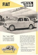 FIAT THE NEW 1100 LEAFLET.