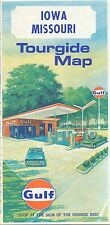 1969 Iowa & Missouri Gulf Oil Co road map - never used in exc condition IA MO