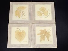 Marks & Spencer Hand Painted Leaf Wall Plaques (Bundle of 4)