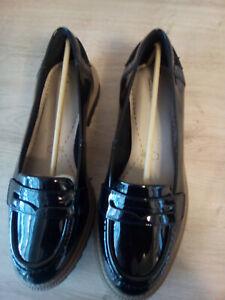 Ladies Flat Shoes Wide Fit E Unworn Size 4 Uk 37 Eu Black Clarks Griffin Milly