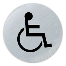 Self Adhesive Disabled 75mm Diameter Stainless Steel Disc / Disabled Symbol