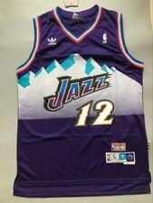 NWT Men's John Stockton Utah Jazz Throwback Swingman Jersey Purple Size S-XXL