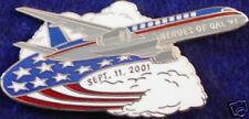 NEVER FORGET 9/11 PIN Heroes UAL Flight #93 Clouds RIGHT 911 September 11th
