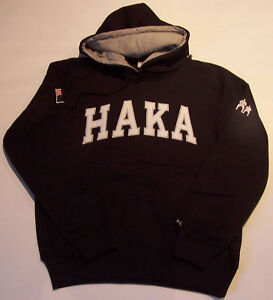 HAKA BLACK RUGBY HOODY MEN'S MEDIUM