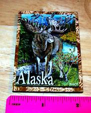 Alaska Bull Moose 3D wood Magnet - We combine items and ship worldwide!