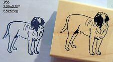 Large Mastiff dog rubber stamp Wm P53