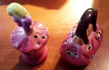 """Very Lovely 3"""" Purse and Perfume Style Ceramic Salt & Pepper Shakers Japan"""