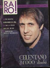 RARO! 3/1988 ADRIANO CELENTANO BLOODWYN PIG KATE BUSH ROVESCIO DELLA MEDAGLIA