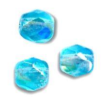 50 Perles Facettes cristal boheme 4mm - AQUAMARINE AB