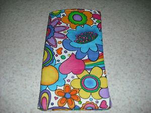 Sunglass / Eyeglass Soft Fabric Case - Bright Flower Power Design - Spring!