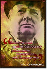 WINSTON CHURCHILL ART PHOTO PRINT 2 POSTER GIFT DEMOCRACY QUOTE