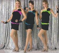 CXS AXL BLUE Freeze Frame Acro Jazz Tap Dance Costume Biketard Adult 2XL