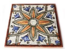 Fliesendekor 15x15cm Fliesen Bordüren Dekoration Vietri Sevilla mediteran bunt