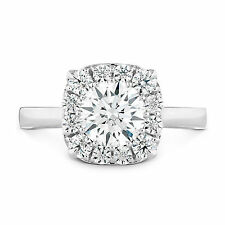 Round Cut 1.10 Ct Diamond Solitaire Real 14K White Gold Engagement Rings 2202
