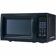 Mainstays 0.7 Cu. Ft. 700W Black Microwave with 10 Power Levels For Kitchen